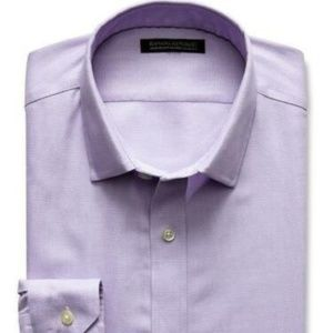 Banana Republic Tailored Slim Fit Shirt XL Violet